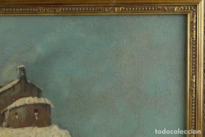 Arte: Manuel Gómez Diaz (1909-1967) óleo sobre lienzo Paisaje de invierno - Foto 6 - 135351718