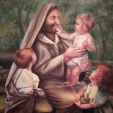 Arte: JESÚS PREDICANDO, ÓLEO SOBRE LIENZO. Lote 135364562