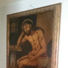 Arte: ESPECTACULAR ÓLEO SOBRE LIENZO , ECCE HOMO.CRISTO CAUTIVO, SIGLO XVII, SIN REPINTES, ORIGINAL. Lote 115408767
