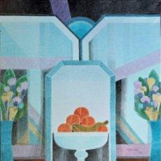 Arte: FRANCESC TODÓ (TORTOSA 1922) - SIMETRIC I UN MIRALL AL CENTRE - ÓLEO. Lote 135431958