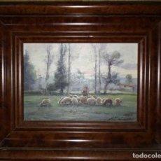 Arte: OLIVET LEGARES FIRMADO 1934 INCLUYE MARCO. Lote 135588198