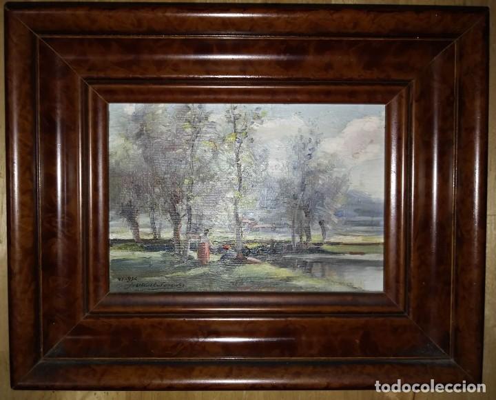 Arte: OLIVET LEGARES. Pintura al oleo firmada. 1934 - Foto 2 - 135588382