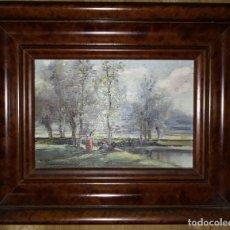 Arte: OLIVET LEGARES FIRMADO 1934 INCLUYE MARCO. Lote 135588382