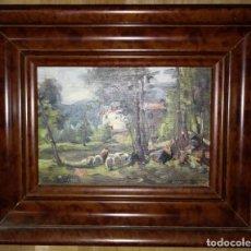 Arte: OLIVET LEGARES FIRMADO 1934 INCLUYE MARCO. Lote 135588850
