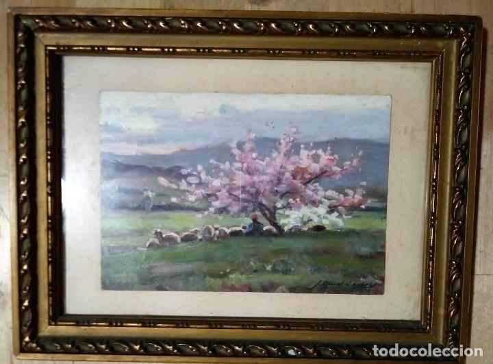 Arte: Oleo de Josep Olivet Legares. Firmado. 1934. - Foto 2 - 135589862