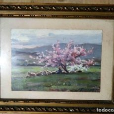 Arte: OLIVET LEGARES FIRMADO 1934 INCLUYE MARCO. Lote 135589862