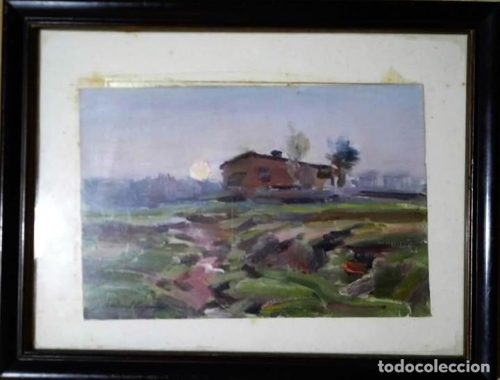 Arte: OLIVET LEGARES firmado 1934 incluye marco - Foto 2 - 135590014