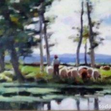 Arte: OLIVET LEGARES FIRMADO 1934 INCLUYE MARCO. Lote 135590062