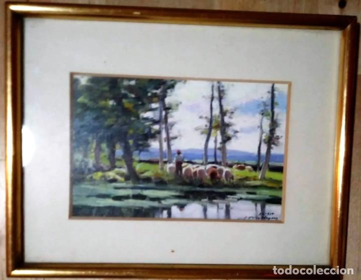 Arte: OLIVET LEGARES firmado 1934 incluye marco - Foto 2 - 135590062