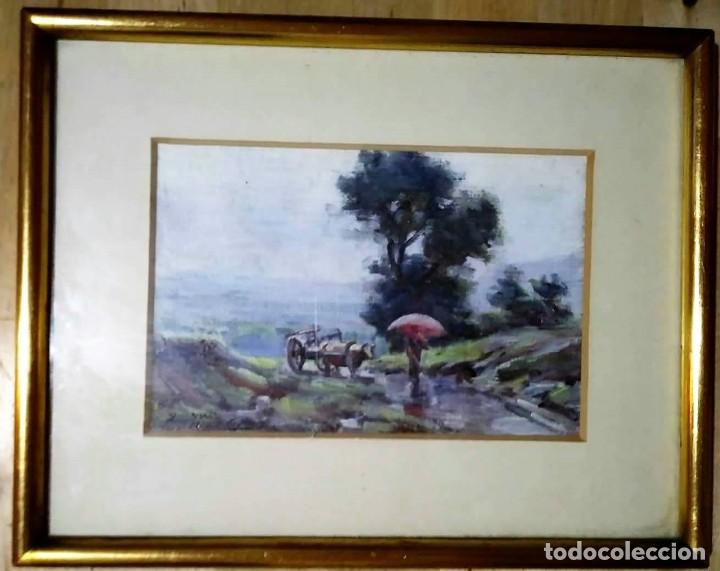 Arte: OLIVET LEGARES firmado 1934 incluye marco - Foto 2 - 135590102