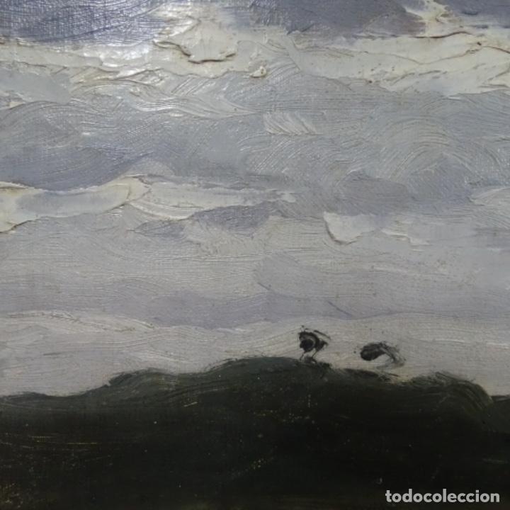 Arte: Óleo sobre tabla anónimo.restaurado.muy buen trazo.maestro.escuela catalana. - Foto 4 - 135732115