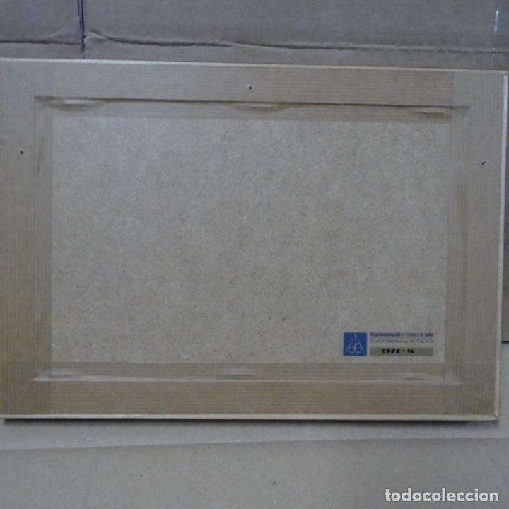 Arte: Óleo sobre tabla anónimo.restaurado.muy buen trazo.maestro.escuela catalana. - Foto 8 - 135732115