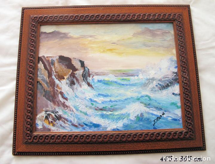 MARINA AL OLEO SOBRE TABLA (Arte - Pintura - Pintura al Óleo Moderna sin fecha definida)