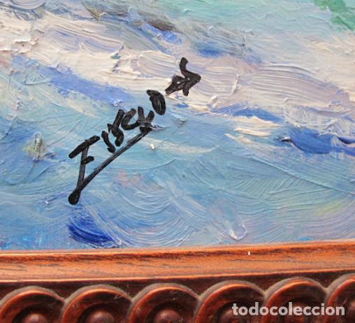 Arte: MARINA AL OLEO SOBRE TABLA - Foto 2 - 135806542