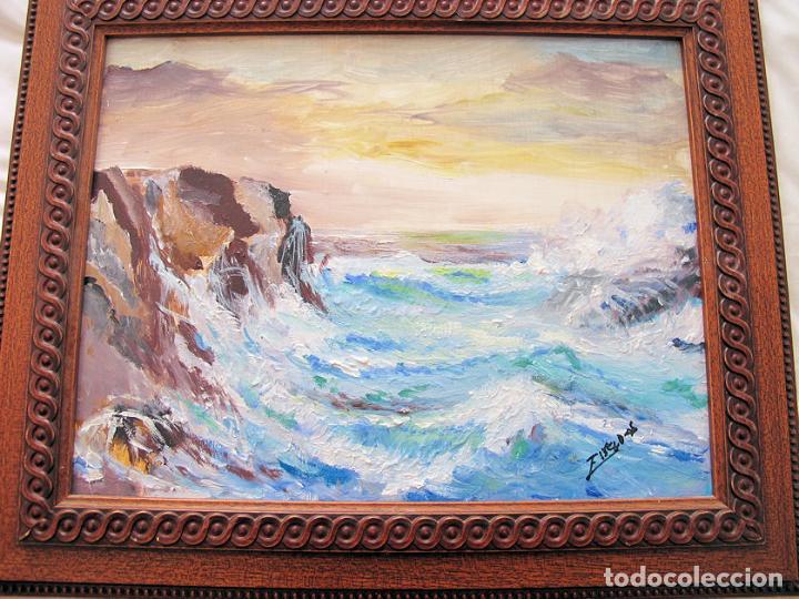 Arte: MARINA AL OLEO SOBRE TABLA - Foto 3 - 135806542