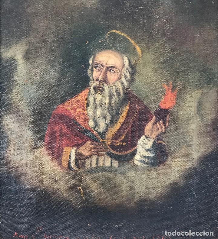 Arte: Oleo antiguo y raro de San Agustín de Hipona - Foto 5 - 135815298