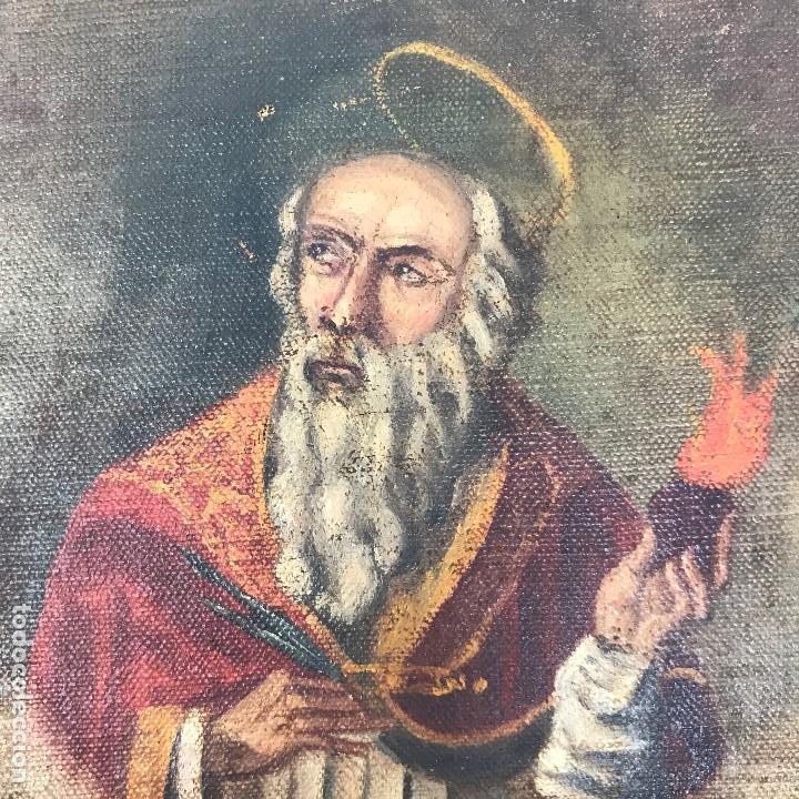 Arte: Oleo antiguo y raro de San Agustín de Hipona - Foto 6 - 135815298