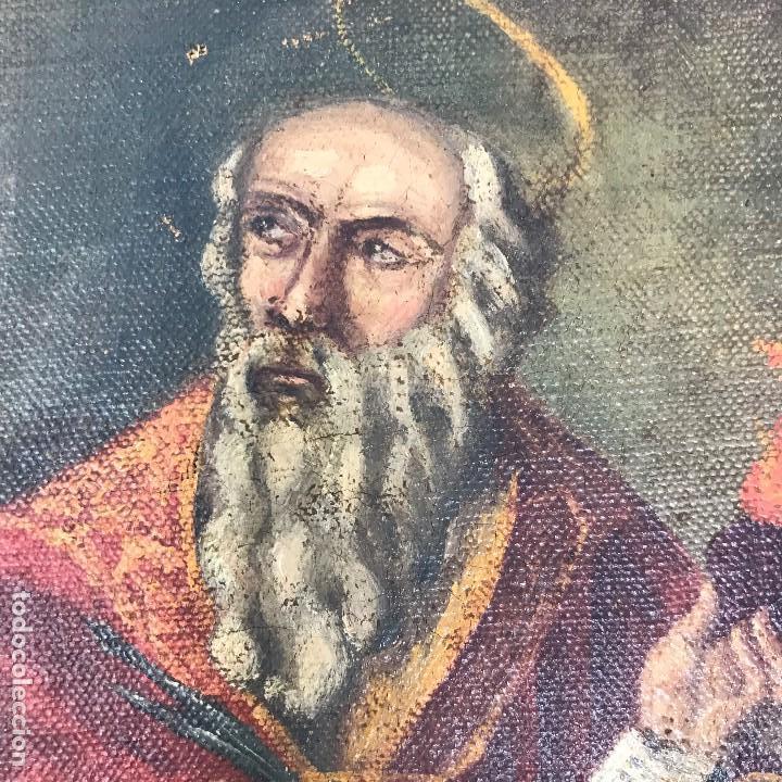Arte: Oleo antiguo y raro de San Agustín de Hipona - Foto 7 - 135815298