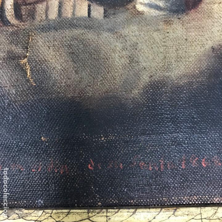 Arte: Oleo antiguo y raro de San Agustín de Hipona - Foto 9 - 135815298