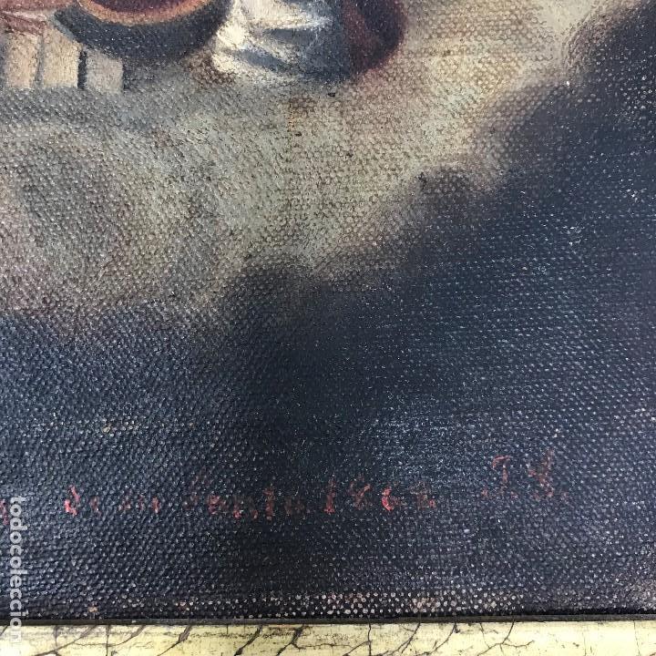 Arte: Oleo antiguo y raro de San Agustín de Hipona - Foto 10 - 135815298
