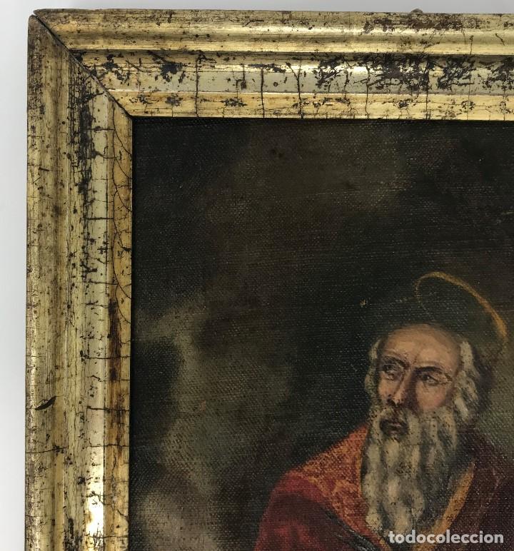 Arte: Oleo antiguo y raro de San Agustín de Hipona - Foto 11 - 135815298