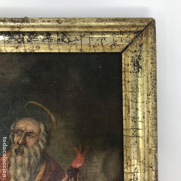 Arte: Oleo antiguo y raro de San Agustín de Hipona - Foto 12 - 135815298