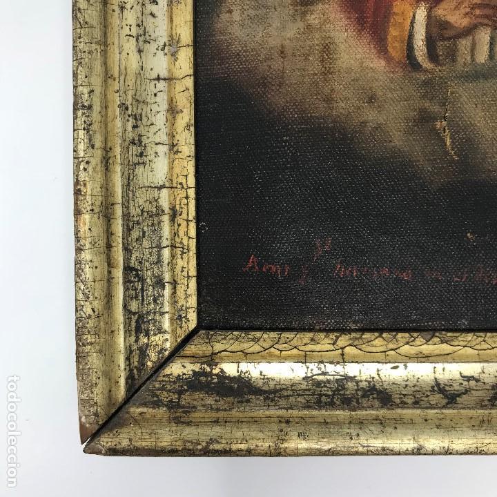 Arte: Oleo antiguo y raro de San Agustín de Hipona - Foto 14 - 135815298