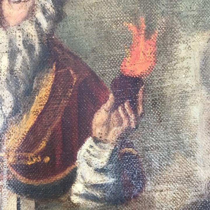 Arte: Oleo antiguo y raro de San Agustín de Hipona - Foto 15 - 135815298