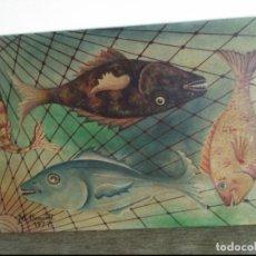 Arte: OLEO SOBLE TABLA ENTELADA DE MANUEL CLEMENTE OCHOA.1977 58X40 CMS. Lote 135882942