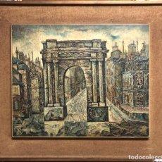 Arte: ESCUELA ESPAÑOLA (S. XX) TÍTULO: ARCO DEL TRIUNFO. FDO. LATORRE. ACRÍLICO - TÁBLEX.. Lote 135957174