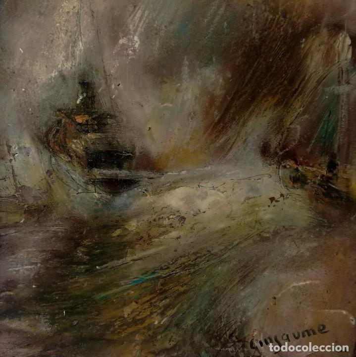 VICENS GINJAUME. OLEO.TEMPESTAD (Arte - Pintura - Pintura al Óleo Contemporánea )