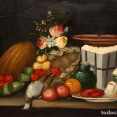 Arte: ESCUELA ESPAÑOLA DE SIGLO XVIII. OLEO SOBRE TELA DE AUTOR ANONIMO. NATURALEZA MUERTA. Lote 136028006