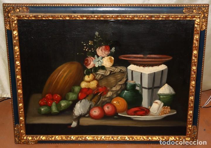 Arte: ESCUELA ESPAÑOLA DE SIGLO XVIII. OLEO SOBRE TELA DE AUTOR ANONIMO. NATURALEZA MUERTA - Foto 2 - 136028006