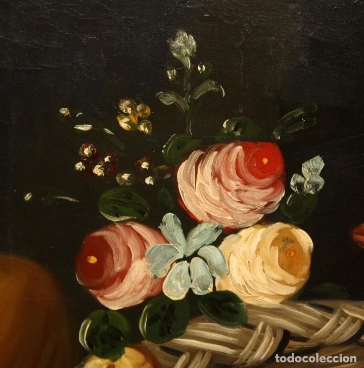 Arte: ESCUELA ESPAÑOLA DE SIGLO XVIII. OLEO SOBRE TELA DE AUTOR ANONIMO. NATURALEZA MUERTA - Foto 3 - 136028006
