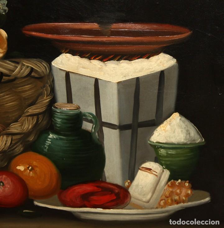 Arte: ESCUELA ESPAÑOLA DE SIGLO XVIII. OLEO SOBRE TELA DE AUTOR ANONIMO. NATURALEZA MUERTA - Foto 6 - 136028006
