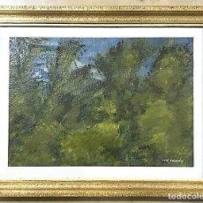 Arte: PAISAJE OLEO SOBRE TABLA. Lote 136032618