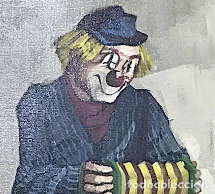 Arte: OLEO SOBRE LIENZO REPRESENTA UN PAYASO CON ACORDEÓN - Foto 2 - 136034270