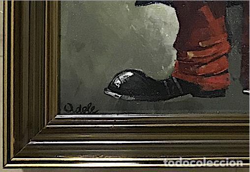 Arte: OLEO SOBRE LIENZO REPRESENTA UN PAYASO CON ACORDEÓN - Foto 4 - 136034270