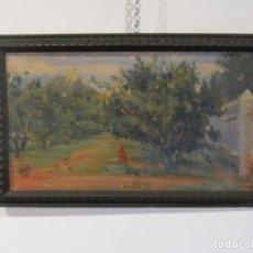 Arte: OLEO SOBRE LIENZO - LUIS GASCH I BLANCH 1.902 - VALENCIA - EN EL HUERTO DE NARANJOS. Lote 136049142