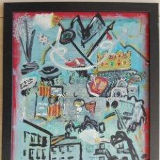 Arte: ANTONI MARTÍ (SEUDONIMO) CASSERRES, 1960 - ÓLEO SOBRE TABLEX - ENMARCADO 44 X 34 - CERTIFICADO. Lote 115355820