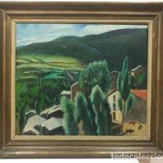 Arte: OTHO LLOYD (LONDON, 1885 - BARCELONA, 1973) PAYSAGE DES PYRÉNÉES OIL/CANVAS 46 X 55 CM C. 1942. Lote 136106886