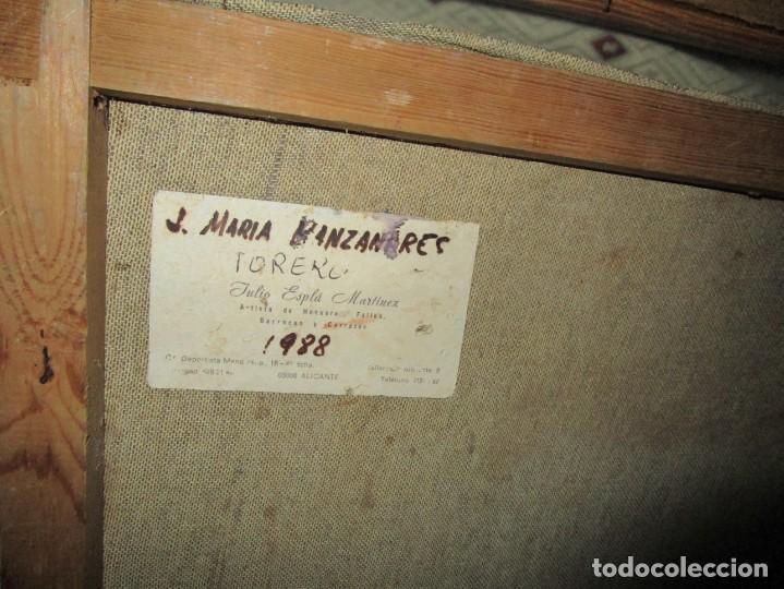 Arte: JOSE MARIA MANZANARES torero OLEO PINTURA ANTIGUA FIRMA j espla artista de hogueras de alicante - Foto 4 - 136244034