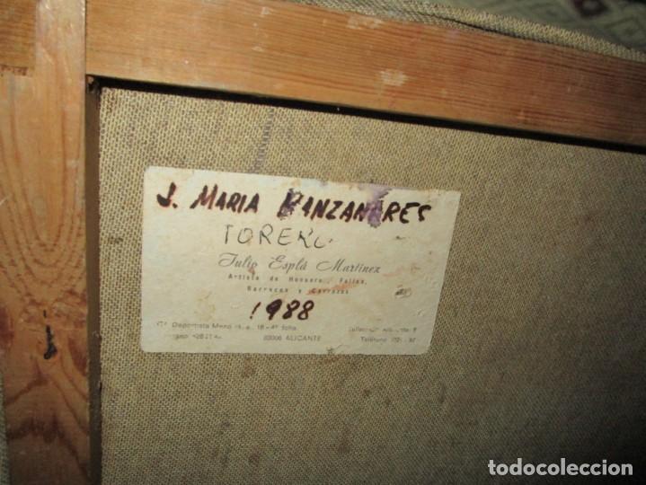 Arte: JOSE MARIA MANZANARES torero OLEO PINTURA ANTIGUA FIRMA j espla artista de hogueras de alicante - Foto 6 - 136244034