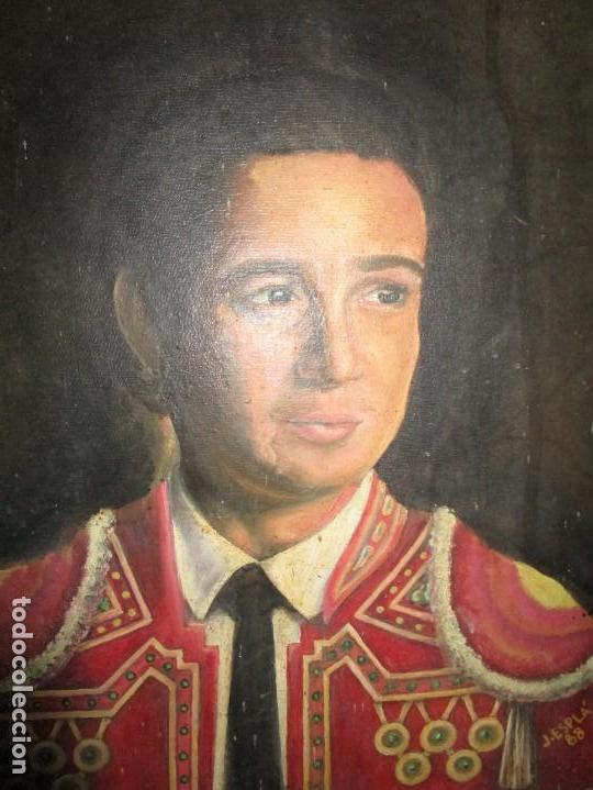 Arte: JOSE MARIA MANZANARES torero OLEO PINTURA ANTIGUA FIRMA j espla artista de hogueras de alicante - Foto 8 - 136244034