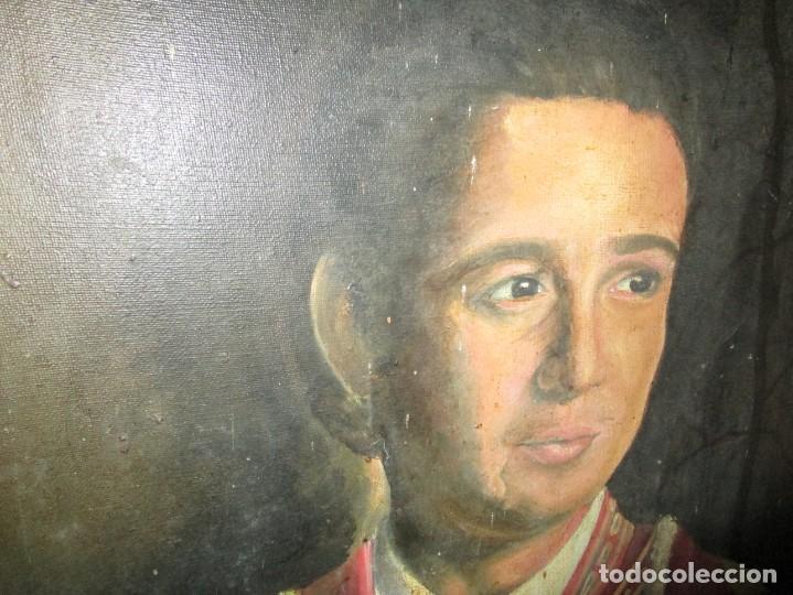 Arte: JOSE MARIA MANZANARES torero OLEO PINTURA ANTIGUA FIRMA j espla artista de hogueras de alicante - Foto 9 - 136244034