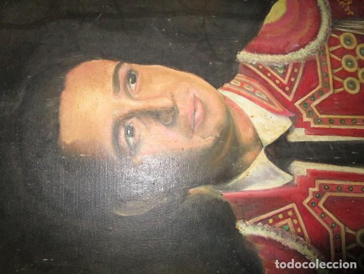 Arte: JOSE MARIA MANZANARES torero OLEO PINTURA ANTIGUA FIRMA j espla artista de hogueras de alicante - Foto 3 - 136244034