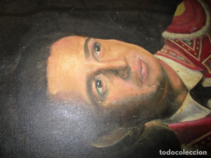 Arte: JOSE MARIA MANZANARES torero OLEO PINTURA ANTIGUA FIRMA j espla artista de hogueras de alicante - Foto 12 - 136244034