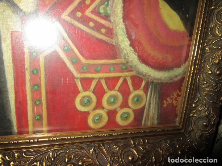 Arte: JOSE MARIA MANZANARES torero OLEO PINTURA ANTIGUA FIRMA j espla artista de hogueras de alicante - Foto 2 - 136244034