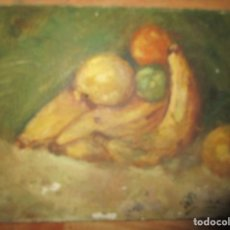 Arte - ANTIGUA PINTURA OLEO TABLA BODEGON FIRMADO ILEGIBLE - 136244914