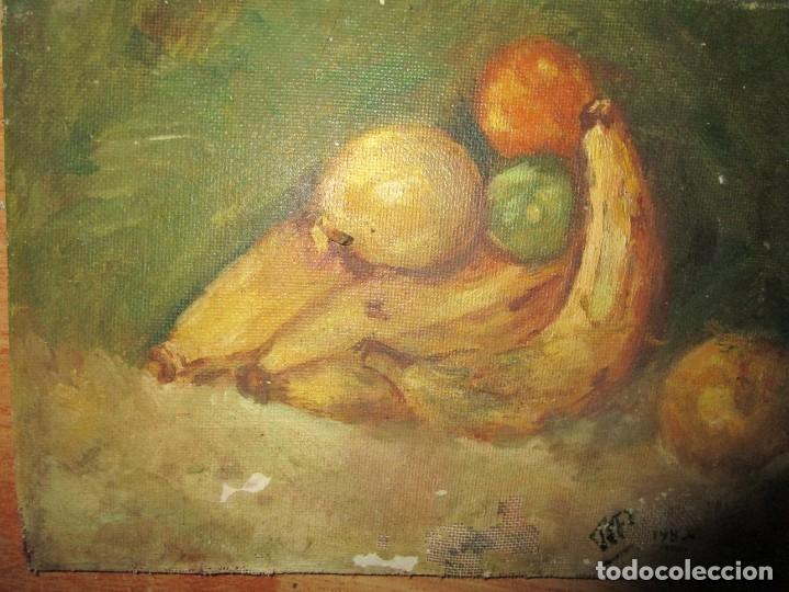 Arte: ANTIGUA PINTURA OLEO TABLA BODEGON FIRMADO ILEGIBLE - Foto 3 - 136244914